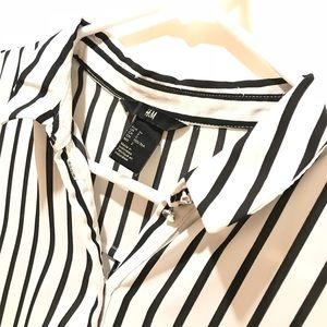 Black and White striped H&M Blouse